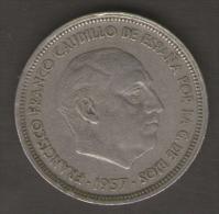 SPAGNA 50 PESETAS 1957 - [ 5] 1949-… : Regno