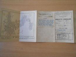 FERROVIE DELLO STATO 1935 BIGLIETTO CIRCOLARE GIORNI 45 NAPOLI ROMA MILANO FIREN