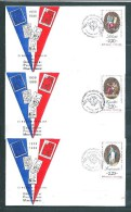 3 Envelloppes  Des N°2573 A 2575 (Montlucon) 1/7/1989 - Documents Of Postal Services