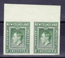 Kanada Neufundland 1938 SG.#268b * Ungezähntes Paar - Terre-Neuve