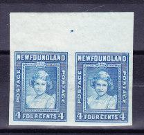 Kanada Neufundland 1938 SG.#270b */**  Ungezähntes Paar - Terre-Neuve