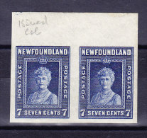 Kanada Neufundland 1938 SG.#271b */**  Ungezähntes Paar - Terre-Neuve