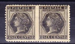 Kanada Prinz Edward Insel 1872 SG.#41b * Waagrechtes Paar Ungezähnt Zwischen - Ile Du Prince-Édouard