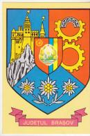 Romania Old Uncirculated Postcard  - Coat Of Arms - Brasov Region - Ansichtskarten