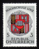 ÖSTERREICH 1966 ** Wappen Hochschule Linz - MNH - Briefmarken