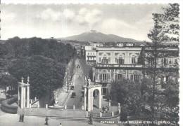 CATANIA  VILLA BELLINI E VIA S.EUPLIO PANORAMA..VIAGGIATA-1951--FG.C466