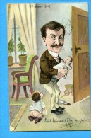 Madd219, Papa, Père Au Foyer, Enfants, Bébés, Précurseur,  Circulée 1905 - Neonati