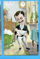 Madd222, Papa, Père Au Foyer, Enfants, Bébés, Précurseur,  Circulée 1905 - Neonati