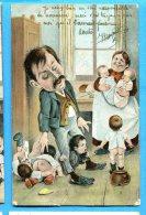 Madd227, Papa, Père Au Foyer, Enfants, Bébés, Précurseur,  Circulée 1905 - Babies