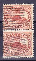 Kanada 1859 SG.#31/33 Senkrechtes Paar Gestempelt - Gebraucht