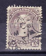 Kanada 1868 SG.#61c Gestempelt - 1851-1902 Règne De Victoria