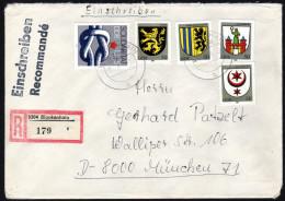 DDR 1984 - Stadtwappen Der DDR - Reko Brief - Briefe U. Dokumente