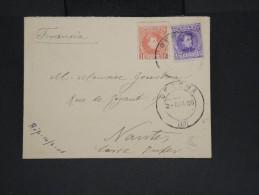 ESPAGNE-Enveloppe De Gerona Pour Nantes En 1906 Aff Bicolore à Voir  P7221 - Cartas