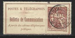 """FR Téléphone YT 26 """" 40c.brun-rouge Fond Creme """" 1900-06 Oblitéré RIVE DE GIER - Télégraphes Et Téléphones"""