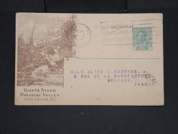 """CANADA-Entier Postal De La Cie """"Canadian Pacific Railway"""" En 1919 Pour La France à Voir  P7225 - 1903-1954 Rois"""