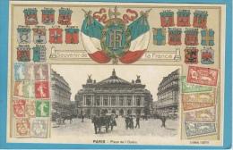 PARIS  - RÉIMPRESSION  D'UNE  CARTE  ANCIENNE - Poste & Postini