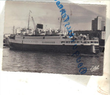 Cpsm  Bateau Navire Identifié Rouen Le Falaise Transport Passager  FRANCE MARINE  Angleterre - Handel