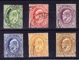 Falkland Inseln 1904/12 King Edward SG.#43-48 Gestempelte 6 Werte - Falkland