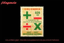AMERICA. COLOMBIA MINT. 1968 PRIMER CONGRESO DE CÁLCULO ELECTRÓNICO - Colombia
