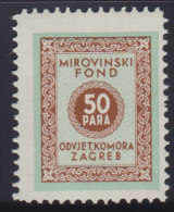 3272. Yugoslavia, Croatia, Bar Association - Superannuation Fund Revenue, MNH (**) - Croatie