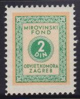 3273. Yugoslavia, Croatia, Bar Association - Superannuation Fund Revenue, MNH (**) - Croatie
