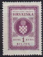 3276. WWII, Independent State Of Croatia, Revenue Stamp - 1 Kuna, MNH (**) - Croatie
