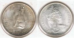 CANADA 50 CENTS DOLLAR  1967 PLATA SILVER G1 - Canada