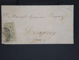 ESPAGNE-Enveloppe (avec Texte) De Valencie En 1886 Pour Linares  à Voir P7237 - Cartas