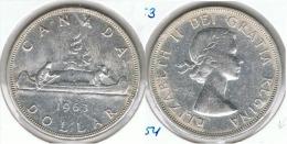 CANADA DOLLAR CANOA 1963 PLATA SILVER G1 - Canada