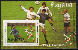 Guyana,On The Eve Of World Cup-Italy ´90 1989.,block,MNH - Guyana (1966-...)