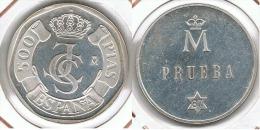 ESPAÑA JUAN CARLOS I 500 PESETAS 1987 PRUEBA PLATA SILVER - Spain