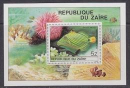 Zaire 1980 Tropical Fish M/s  ** Mnh (21611) - Zaïre