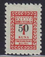 3283. WWII, Independent State Of Croatia, Revenue Stamp - 50 Kuna, MNH (**) - Croatie