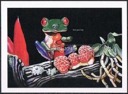 C122 FAUNA REPTIELEN REPTILES KIKKER FROG PADDESTOEL MUSHROOM CHAMPIGNON PILZE SIERRA LEONE 1996 PF/MNH - Grenouilles