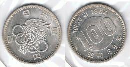 JAPON 100 YEN 1964 OLIMPIADA PLATA SILVER G1 - Japón