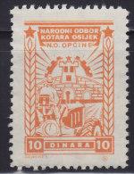 3284. Yugoslavia, Croatia, Osijek, City Revenue Stamp - 10 Din, Without Gum On The Back - Croatie