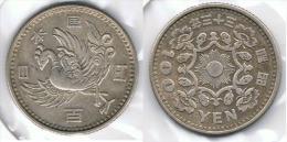 JAPON 100 YEN PLATA SILVER PAJARO G1 - Japón