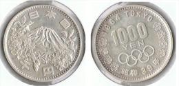 JAPON 1000 YEN 1964 OLIMPIADA PLATA SILVER G1 - Japón