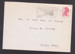 Flamme Dpt 56 : CARNAC (SCOTEM N°  8254 émise Le 13/10/1987) Sur Lettre Entière - Marcofilia (sobres)