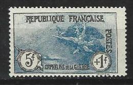 """YT 232 """" Orphelins 5F + 1F Bleu """" 1927 Neuf*"""