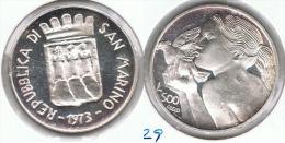 SAN MARINO 500 LIRA 1973 PLATA SILVER.pG1 - San Marino