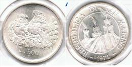 SAN MARINO 500 LIRA 1974 PLATA SILVER - San Marino