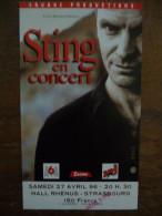 Ticket de Concert STING (POLICE) Hall Rh�nus Strasbourg 1996