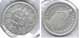 SUIZA HELVETIA FRANC 1877 PLATA SILVER.pG1 - Suiza