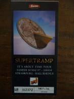 Ticket De Concert SUPERTRAMP Hall Rh�nus Strasbourg 1997