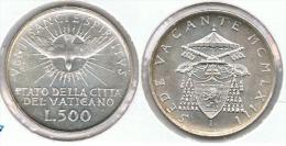 VATICANO 500 LIRA  1958 SEDE VACANTE PLATA SILVER - Vaticano (Ciudad Del)