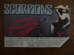 Ticket de Concert SCORPIONS Ortenauhalle Offenburg (Allemagne) 1988