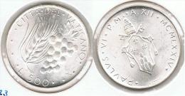 VATICANO 500 LIRA  1974 PABLO VI PLATA SILVER - Vaticano (Ciudad Del)