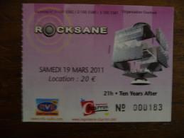 Ticket de Concert TEN YEARS AFTER Rocksane Bergerac 2011