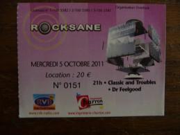 Ticket de Concert Dr FEELGOOD / CLASSIC & TROUBLES Rocksane Bergerac 2011